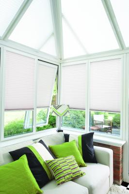 Venetian blinds,  bay windows