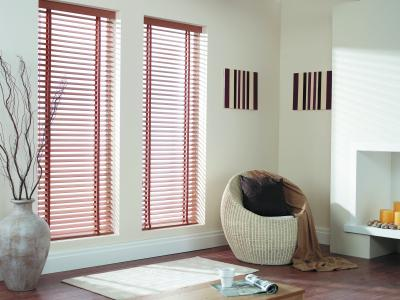 vertical blinds,  bay windows